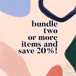 Bundle 2 or more items and save!!